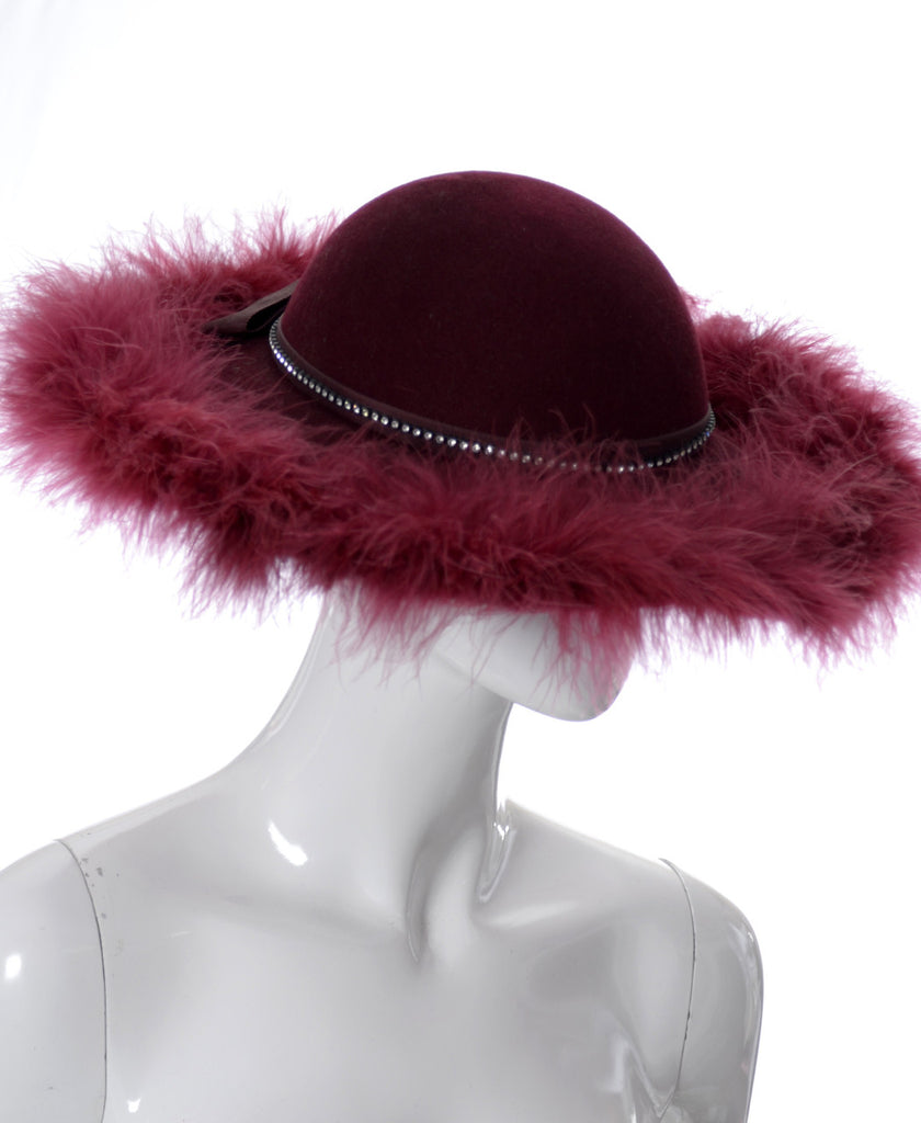 Burgundy vintage hat Kurt Jr.