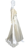 Vintage 1960s satin and lace wedding dress