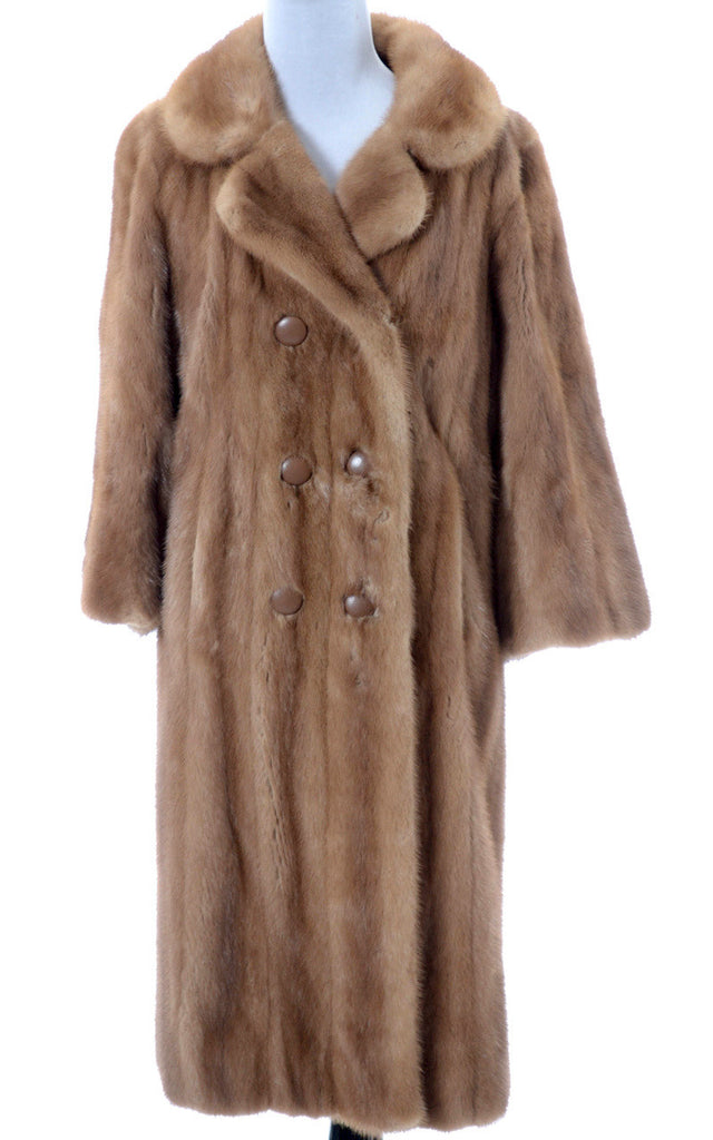 Vintage light mink full length coat