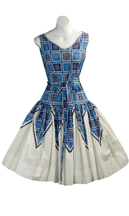 Vintage dress 1950s Jean Durain Hollywood