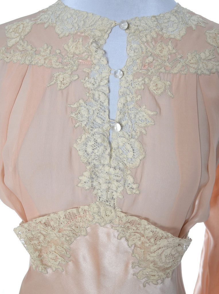Vintage lace trimmed nightgown