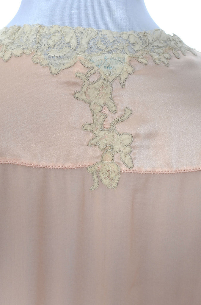 vintage lace pink nightgown