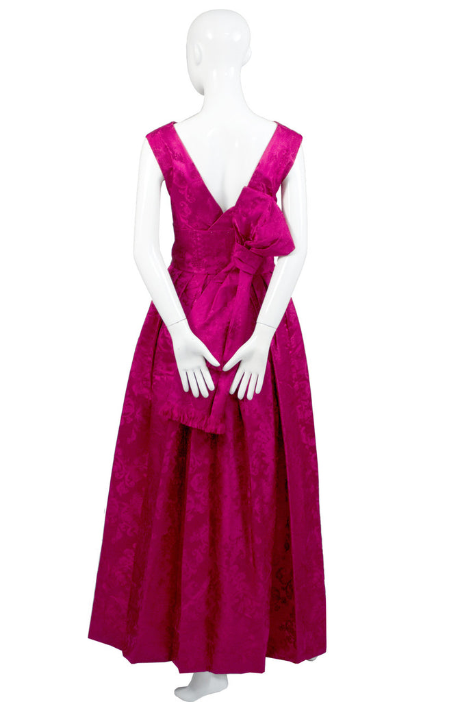 vintage 1950s evening gown dress
