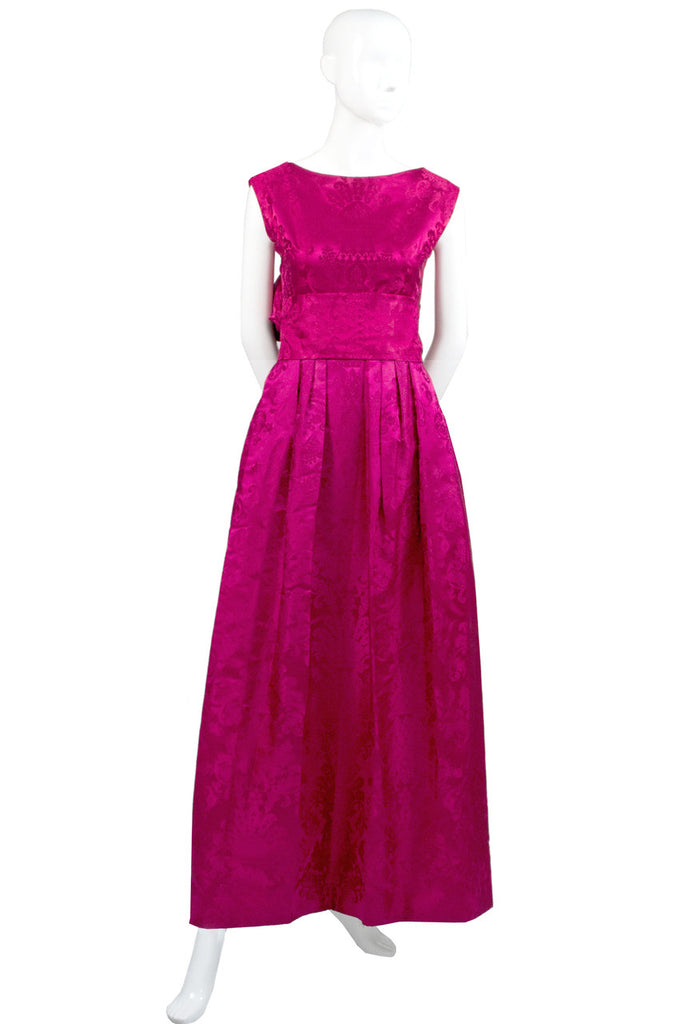 Vintage satin evening dress