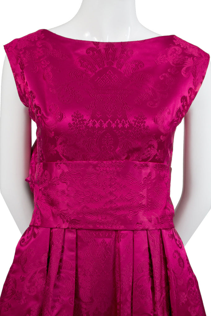 Vintage dark pink satin dress