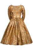 William Pearson gold metallic dress