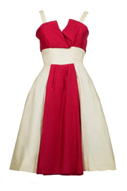 Silk red and white Jacques Heim party dress