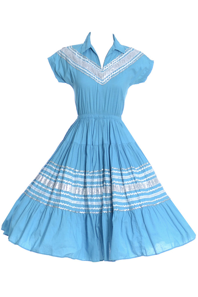 Vintage 1950s mexican patio dress