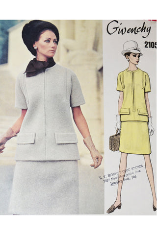1975 Vogue Couturier Design 1052 Valentino Dress Pattern