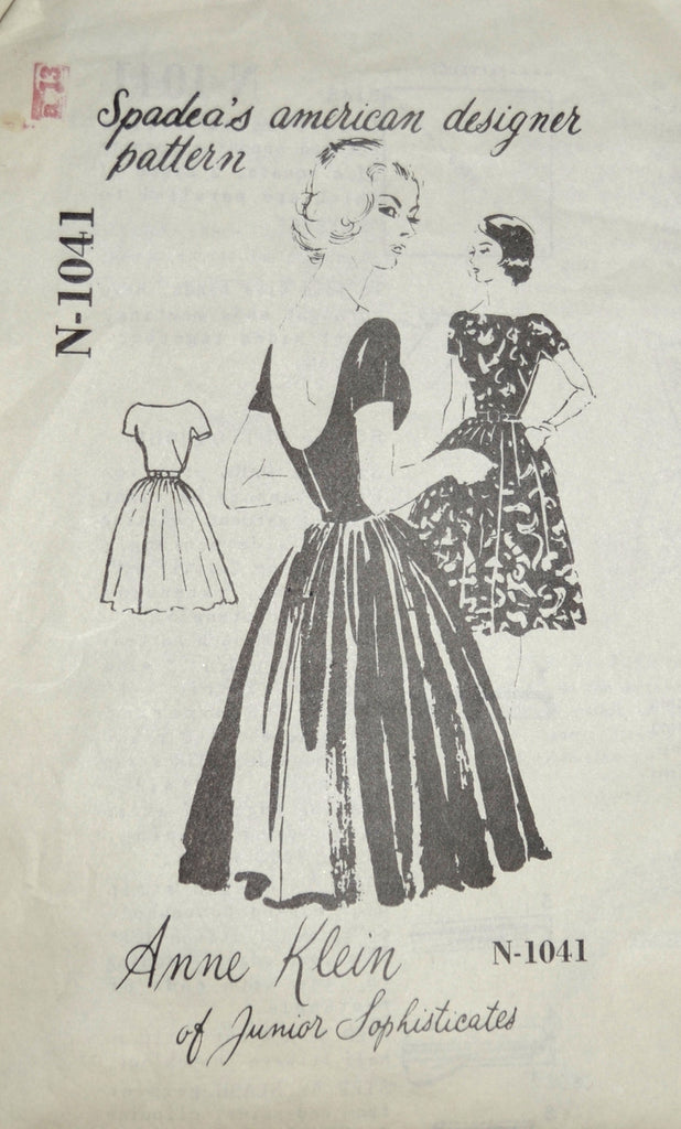 Anne Klein dress pattern vintage Spadea N-1041 mail order