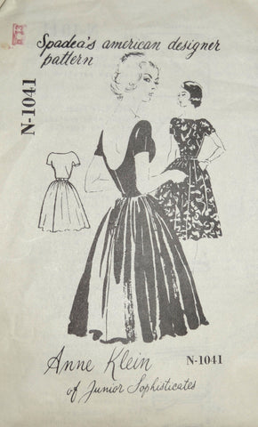 Vintage Spadea N-1041 Mail Order Pattern Anne Klein dress 36B - Dressing Vintage