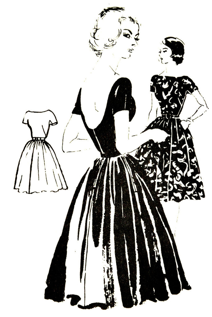 Spadea N-1041 vintage dress pattern Anne Klein