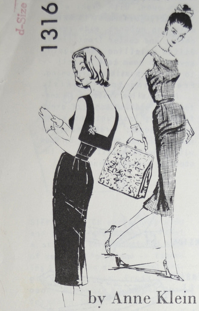 Vintage Spadea 1316 Anne Klein dress pattern