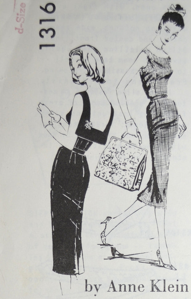 Anne Klein Spadea 1316 Vintage Mail Order Dress Pattern 36B - Dressing Vintage