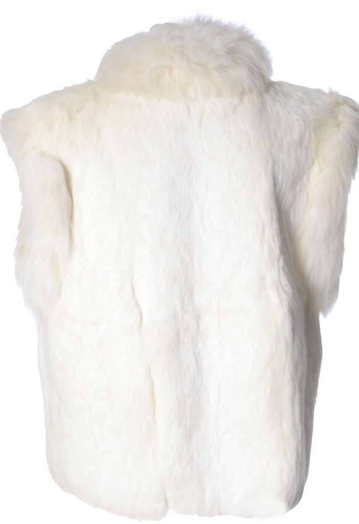 vintage rabbit fur vest