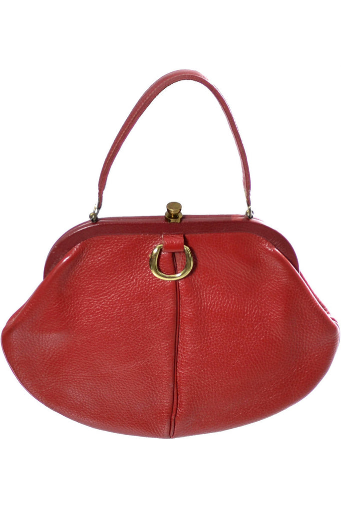 Roger Van S red leather handbag