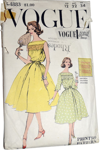 Vintage Vogue special design pattern S4883 party dresses - Dressing Vintage