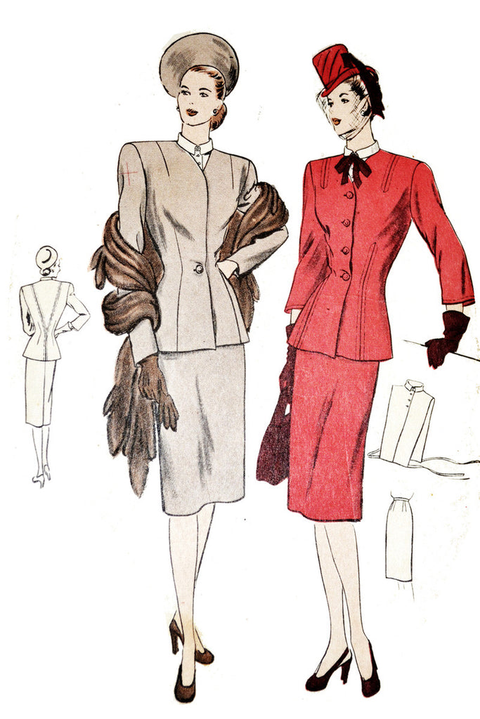 Vintage Vogue 5655 1940s suit pattern