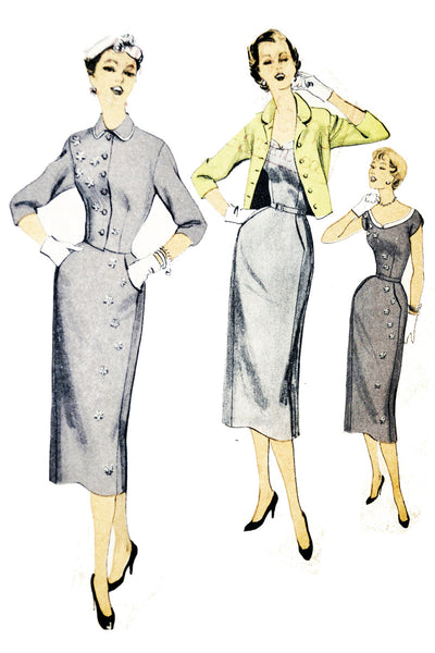 Advance 6802 Vintage Sewing Pattern Howard Greer Dress 36B - Dressing Vintage