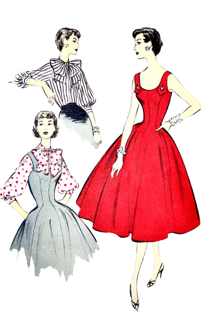Advance 6923 vintage sewing pattern 1950s Jerry Gliden dresses