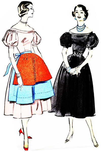 Advance 8366 Vintage Dress Pattern 34B Uncut - Dressing Vintage