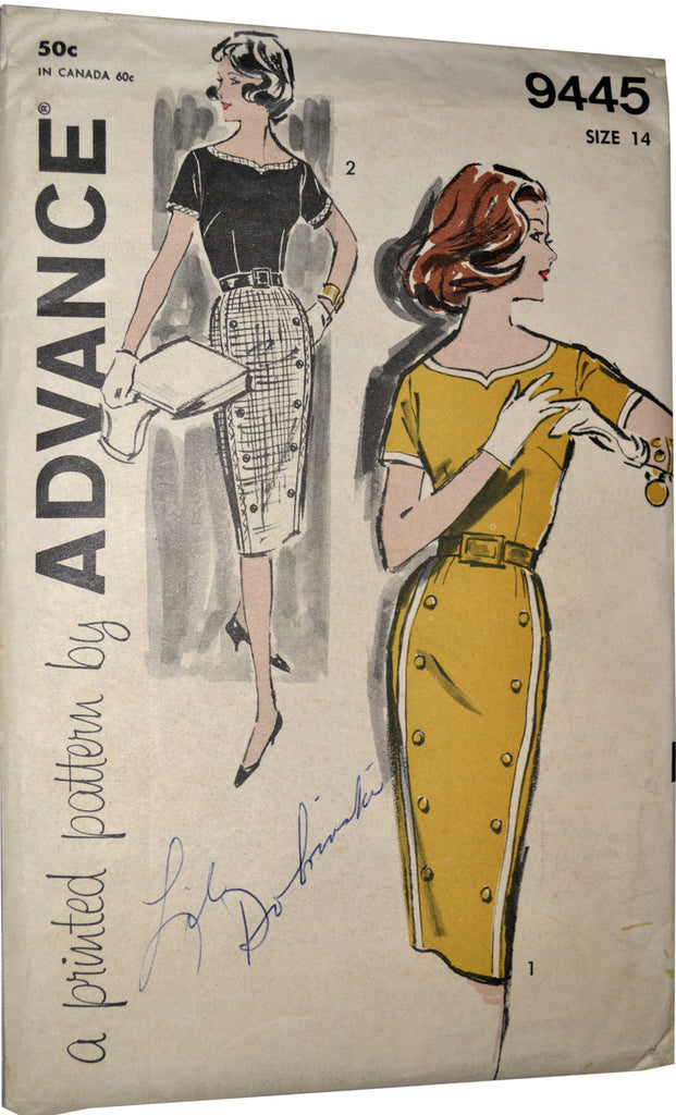 1960s dress pattern Advance 9445