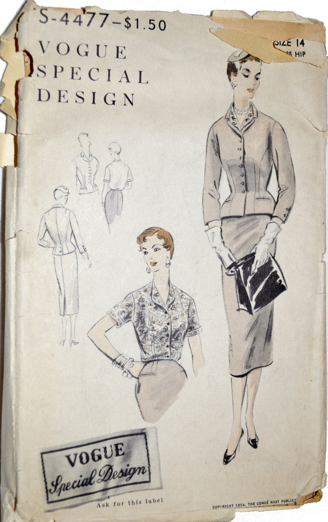 Vintage Vogue Pattern special design s-4477