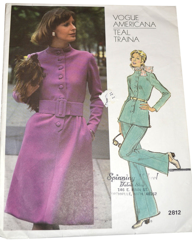 Vogue Americana 2812 Teal Traina vintage pattern 32.5 B - Dressing Vintage