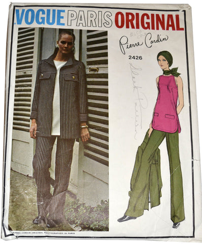 Vogue Paris Original 2426 Pattern Pierre Cardin 36B Tunic and Pants - Dressing Vintage