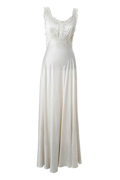 Silk Vintage Nightgown and Bed Jacket with Lace Trim Trousseau - Dressing  Vintage 6ec5b6604