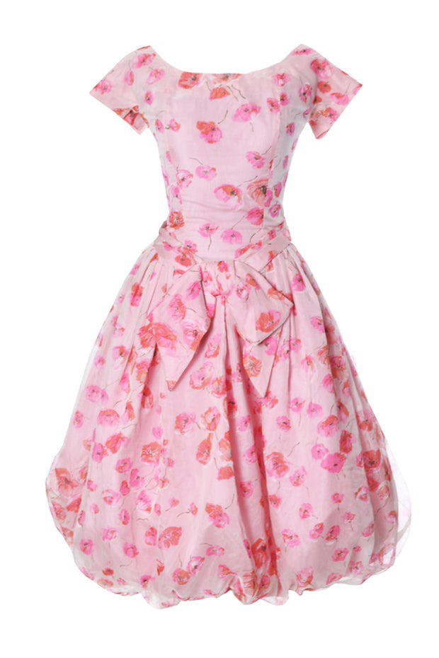 1950's Pink Organza Suzy Perette Vintage Bubble Dress - Dressing Vintage