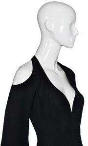 Thierry Mugler Couture Vintage Dress with Exposed Shoulders - Dressing Vintage
