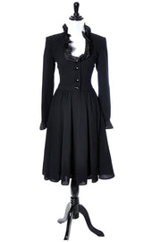 Vintage Valentino Black crepe dress