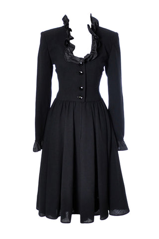Black Crepe Valentino Dress