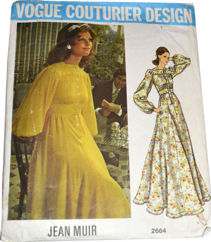 Jean Muir vintage 1970s dress Vogue Couturier sewing pattern 32B - Dressing Vintage