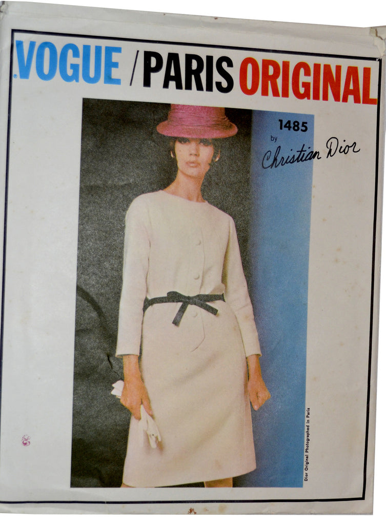 Vintage Vogue 1485 Sewing Pattern Christian Dior