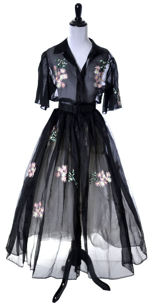 Vintage embroidered Organza dress Sir James