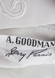 Jerry Parnis A. Goodman vintage ivory linen dress