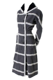 Valerie 9 Rue Auber Paris Vintage Gray Mohair Opera Coat Dress