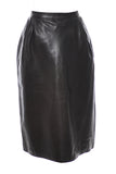 1970s Vintage YSL leather skirt saint laurent rive gauche