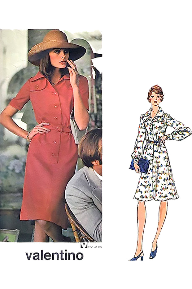 Valentino Vogue Couturier Design Dress Pattern 1052