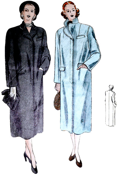 Vogue 6323 Vintage Coat Pattern 1940s