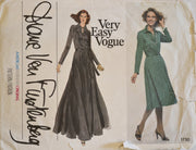 Diane Von Furstenberg Vogue 1730 Vintage Dress Pattern 36B - Dressing Vintage