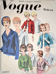 Vogue 3007 vintage jacket pattern from the 1950s UNCUT - Dressing Vintage