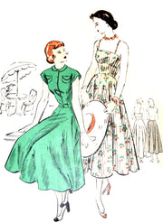 Vogue 3208 dress and jacket pattern vintage 1950s 31.5B - Dressing Vintage