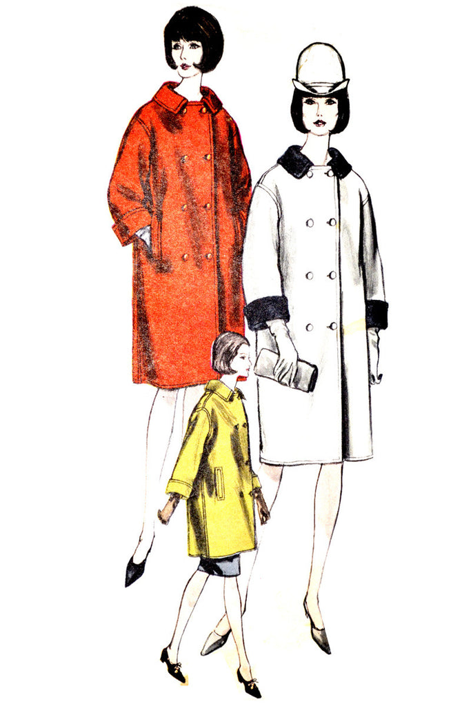 Vogue 6316 vintage uncut coat pattern