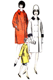 Vintage Vogue 6316 mod coat pattern UNCUT 34B - Dressing Vintage