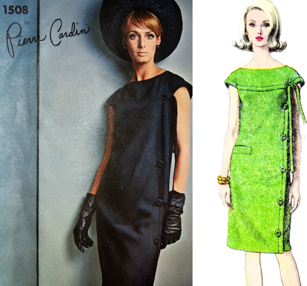 Pierre Cardin vintage sewing pattern Vogue Paris Original 1508