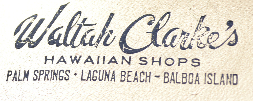 Waltah Clarke's Hawaiian Shops Palm Springs gold vintage sandals