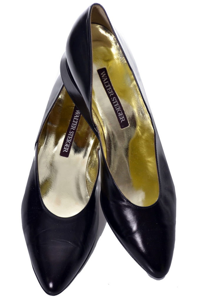 10B Walter Steiger two toned vintage shoes Hand made in Italy - Dressing Vintage